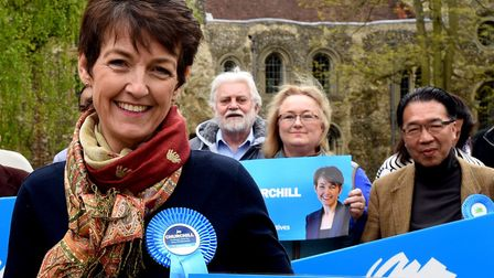 Jo Churchill is defending her Bury seat in the General Election. PICTURE ANDY ABBOTT
