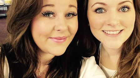 Kirsty Blaxell with her sister Lisa Picture: SUPPLIED BY FAMILY