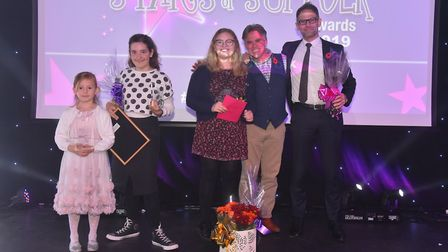 The young person of the year finalists at The Stars of Suffolk Awards Photo: Brittany Woodman