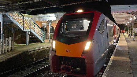 The new trains will be passing Woodbridge when they start operating on the East Suffolk line. Pictur