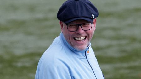 AFC Sudbury boss, Mark Morsley, pictured during last Saturday's home win over Canvey Island, is look