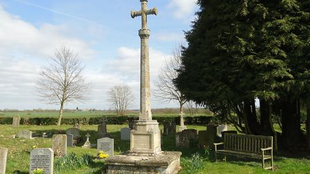 The war memorial at Wingfield in Suffolk is one of those assessed as being in a very bad condition b