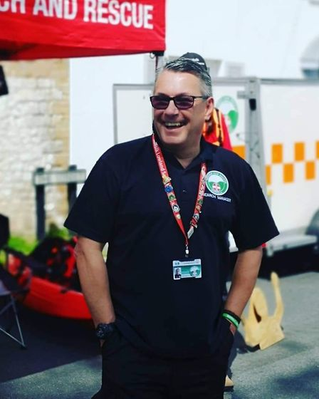 Andy King, chairman of Suffolk Lowland Search and Rescue Picture: ANDY KING