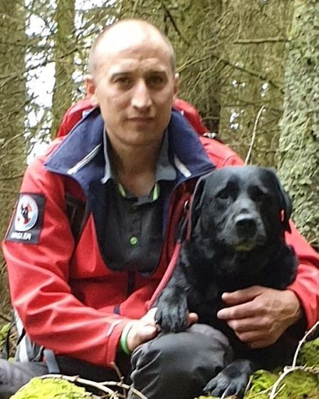 Jamie Ketteridge and Diesel of Suffolk Lowland Search and Rescue are nominated in the Search and Res