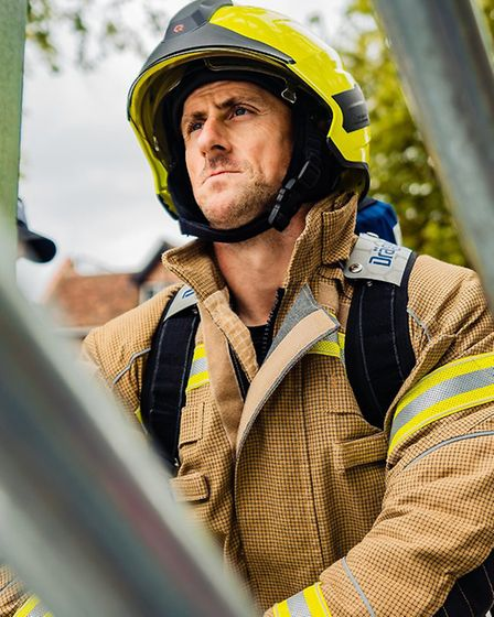 Firefighter Paul Quinton, who is a nominee in the Fire Service Award for his dedicated service Pict