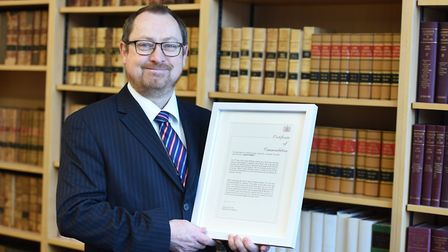 David Norris, who received a judge's commendation for his bravery in saving an attack victim from fu