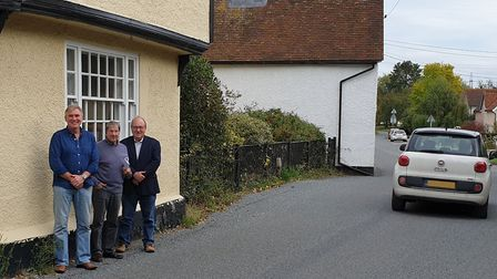 Andy Laughlin, Ian Macfadyen and Chris Hakes say there are daily near misses on the narrow road alre
