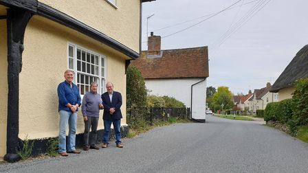 Residents Andy Laughlin, Ian Macfadyen and Chris Hakes say narrowing the road in Somersham to create