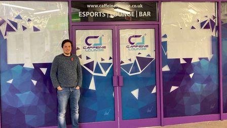 Caffeine Lounge boss William Ward outside the Borehamgate site that will be the gaming lounge and ca