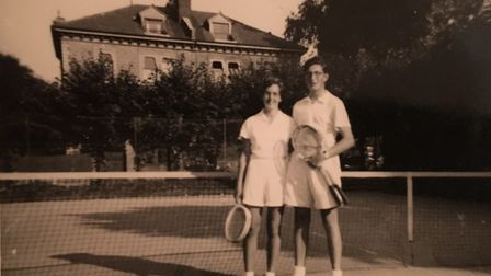Love match: Jill and John in about 1950 Picture: FAMILY COLLECTION