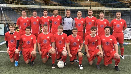 The Suffolk fire squad on matchday Picture: SUFFOLK FIRE AND RESCUE