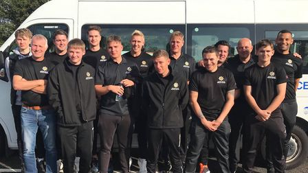 Members of the Suffolk Fire and Rescue football team Picture: SUFFOLK FIRE AND RESCUE