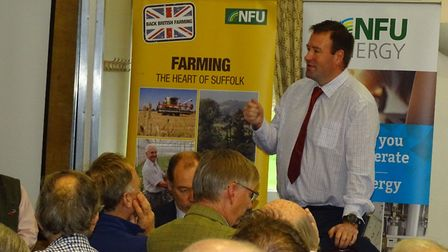 NFU vice president Stuart Roberts addresses Suffolk branch AGM Picture: BRIAN FINNERTY