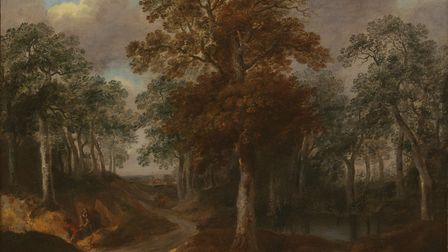 The painting of Cornard Wood by Thomas Gainsborough Picture: PHILIP MOULD