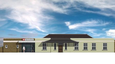 An artist's impression of the new Saxmundham railway station Picture: GREATER ANGLIA