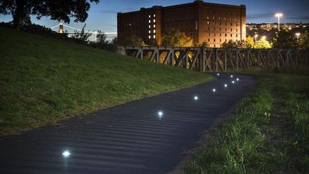 A reconstructed bridleway in Rougham Road, Bury St Edmunds, will feature solar lights by the company