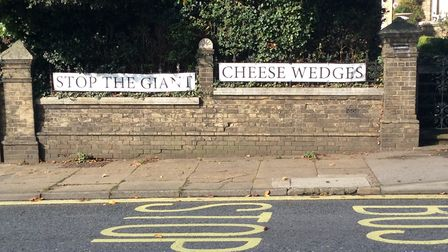 Opposition to the cheese wedges has been growing ahead of the planning meeting Picture: CLAIRE PADFI