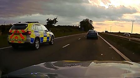 Police have released shocking dash-cam footage of a chase on the A14 Picture: SUFFOLK CONSTABULARY