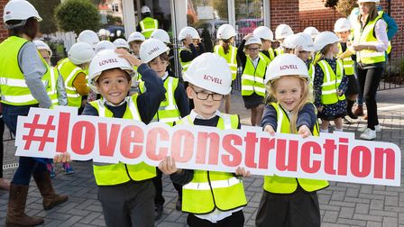 Pupils and staff from Gislingham Church of England Primary School visited Lovell's St Mary's develop