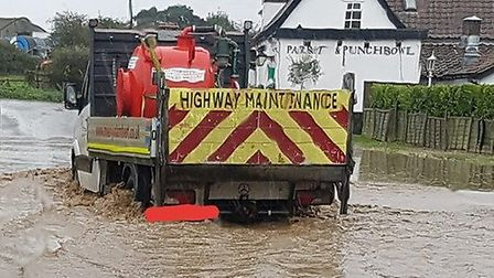 Eyewitnesses say they are marooned in all directions due to the floodwater Picture: CARA CHINERY