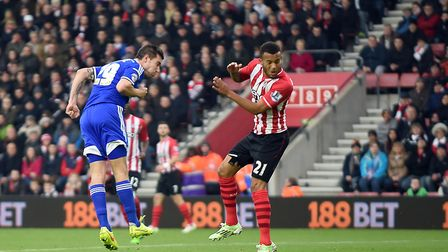 Darren Ambrose gives Ipswich the lead at Southampton in 2015. Photo: Pagepix