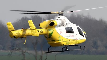 An Essex and Herts Air Ambulance was called to the scene Picture: SIMON PARKER