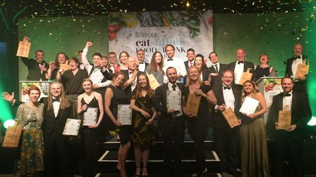 Winners of the eatsuffolk Food and Drink Awards 2019 Picture: SARAH LUCY BROWN