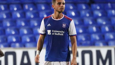 Anthony Georgiou in action during Town U23s 3-1 defeat to Charlton Picture: ROSS HALLS
