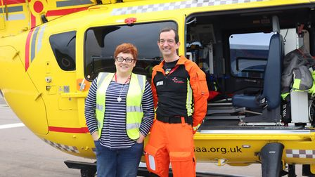 Sarah Hurn and doctor Jeremy Mauger from the EAAA
