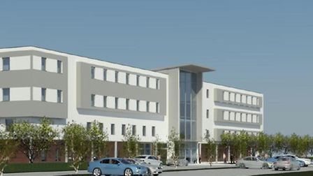 Architect's impression of the new elective orthopaedics centre planned for either Ipswich or Colches