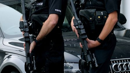 Armed police Picture: ANDY ABBOTT