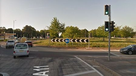 Fiveways roundabout at Barton Mills Picture: GOOGLE