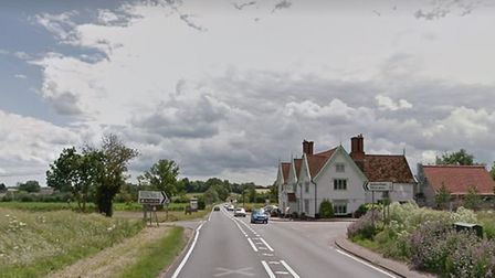The crash happened on the A140 at Stoke Ash Picture: GOOGLE