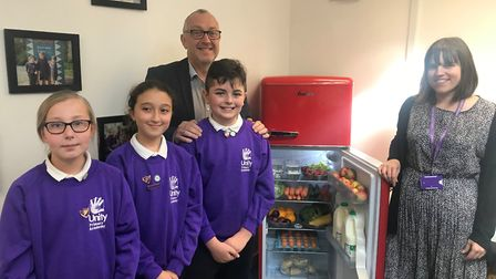 Sir Steve Lancashire, chief executive of Reach2, with Unity Primary Academy co-head Lucy Williams an