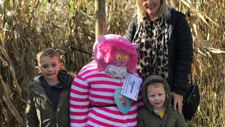 Andrea, Alfie and Ellitott Denny enjoyed the GeeWizz Charity Pumpkin Patch & Maize Maze. Picture: Vi
