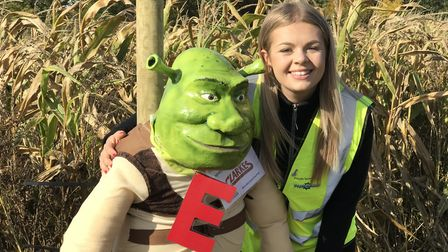 Jade Perry, Event Organiser of the GeeWizz Charity Pumpkin Patch & Maize Maze. Picture: Victoria Pe