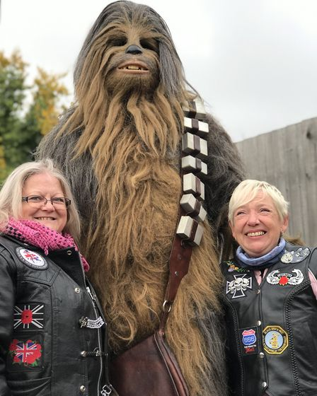 Hundreds of bikers and even some characters from Star Wars turned up at Bury St Edmunds FC on Sunday