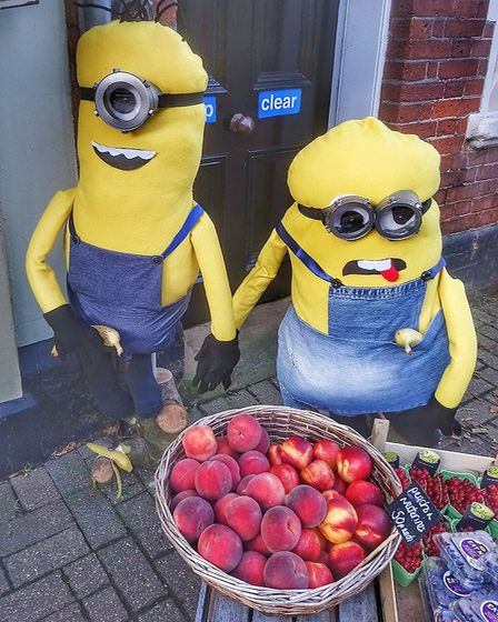 There were plenty of pop culture-inspired 'scarecrows' including these Minions Picture: Kaz Martin