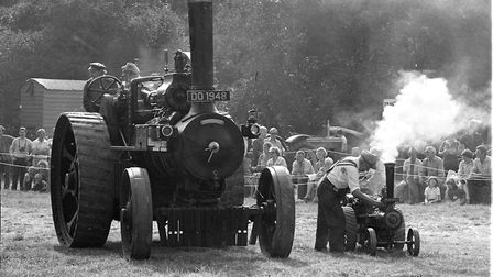 Two steam engines of very different sizes Picture: JERRY TURNER