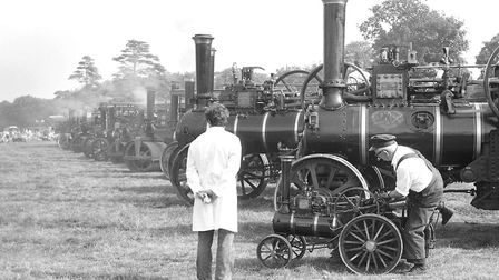 Looking over all the steam engines at the rally Picture: JERRY TURNER