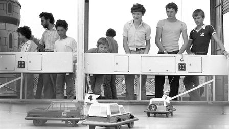 Some of the early remote control cars were available for the public to play with Picture: JERRY TUR