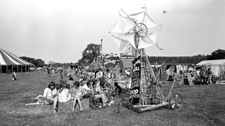 At the rally this fancy contraption was set up in protest to the construction of Sizewell B Picture