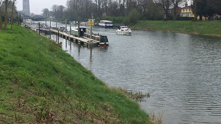 The River Witham, which is the back-drop for the weekly Boston parkrun in Lincolnshire. Picture: CAR