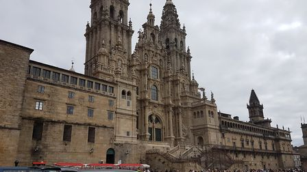 We visited the Holy City of Santiago de Compostella while Boudicca visited La Coruna in northern Spa