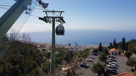 A cable car takes you above the centre of Funchal in Madeira. Picture: PAUL GEATER