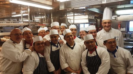 The chefs on board Boudicca manage to provide superb feed from before dawn until the early hours of