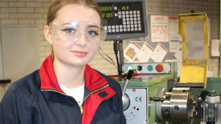 Engineering student Rachel Rolfe at the new high-tech Colchester Institute Braintree Campus. Picture
