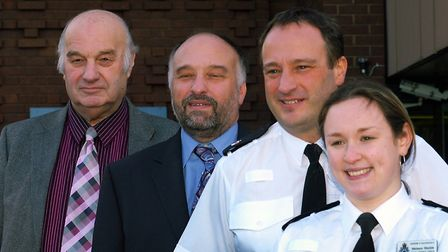 Eric Shields inspired his family to take up careers in the police force (from the left) are: Eric Sh