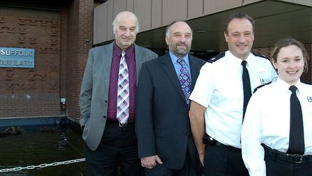 Eric and his family celebrate a century of police service back in 2006 Picture: John Kerr
