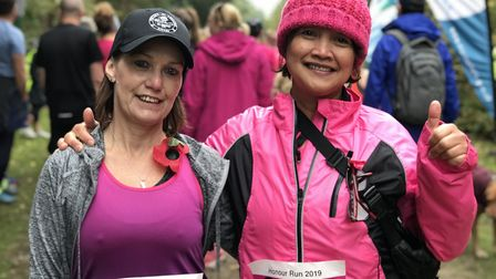 Rosey King, 57 and Naty Bower, 54 from Ipswich took part in the 5K Honour Run at Rendlesham forest t